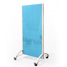 Office glass partition blue 2000h1080 mm