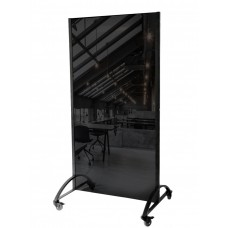 Office partition black glass 2000h1080 mm