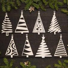"""A set of Christmas """"Christmas trees"""", 80x100 mm"""