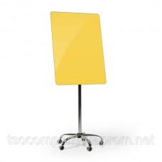 Флипчарт мобильный стеклянный (желтый)
