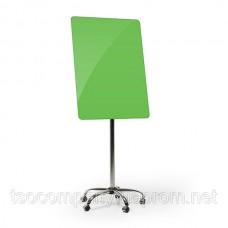Флипчарт мобильный стеклянный (зеленый)